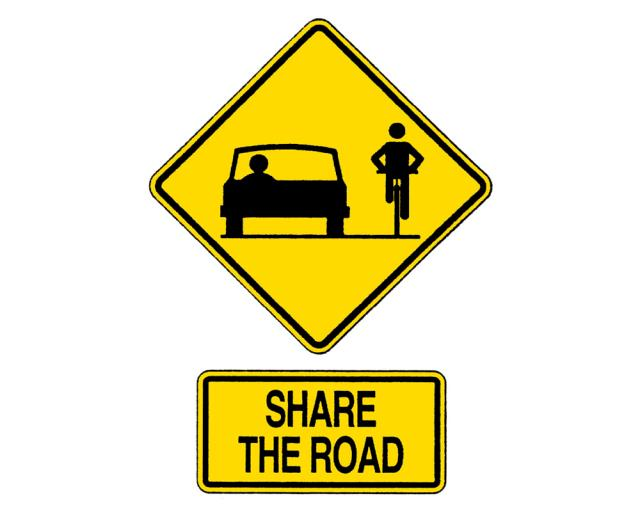 Sign Bike Symbol Inch Share The Road Inch Rentals Chico Ca Where To